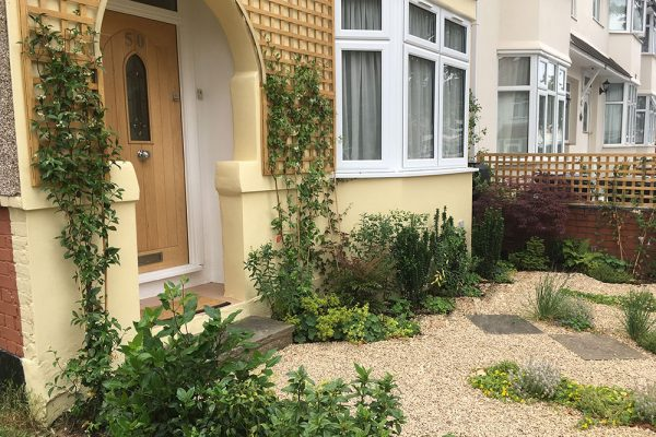 Greening a grey front garden